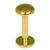 Titanium Labrets with Disk Top 1.6mm Gauge, 4mm Disk - SKU 20604