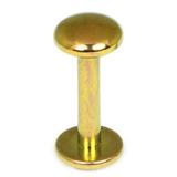 Titanium Labrets with Disk Top 1.6mm Gauge, 4mm Disk - SKU 20619