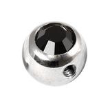 Steel Side-threaded Jewelled Balls 1.6x8mm jet