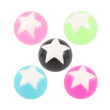 Acrylic Super Star Ball All 5 ball colours / 1.6mm x 5mm