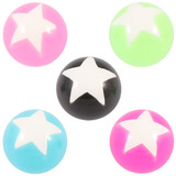 Acrylic Super Star Ball All 5 ball colours / 1.6mm x 6mm