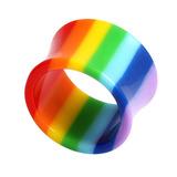 Acrylic Double Flared Rainbow Eyelets 6mm
