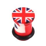 Acrylic Union Jack Flag Plug 10
