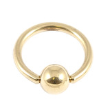 Zircon Steel Ball Closure Ring (BCR) (Gold colour PVD) 1.2mm, 6mm