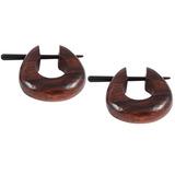 Organic Tribal Ear Jewellery (EAR10) Wood - sold in pairs - price per pair. EAR10