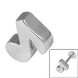Steel Threaded Attachment - Cast Steel 1.2mm 1.2 / Music Note (1.2mm) (casting only)