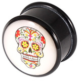 Acrylic Logo Plugs 16-20mm 20 / Sugar Skull