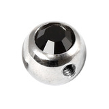 Steel Side-threaded Jewelled Balls 1.6x5mm Jet