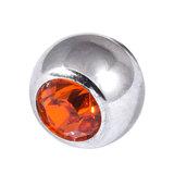 Steel Threaded Jewelled Balls 1.2x5mm Orange