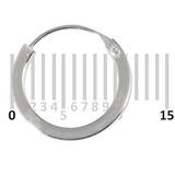 Sterling Silver Hoops - Earrings   H104-H106B H106b:- Piercing Gauge 0.6mm. Perceived Gauge 1.6mm. Internal Diameter 9mm. Square in cross-section. (1 PAIR)