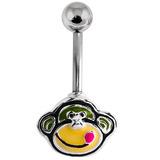 Belly Bar - Cheeky Monkey 1.6mm x 10mm (Standard Size)