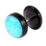 Acrylic Sparkle Fake Plug Sparkle Aqua Blue