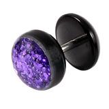 Acrylic Sparkle Fake Plug Sparkle Purple