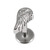 Steel Labret with Cast Steel Attachment 1.6mm - SKU 22815