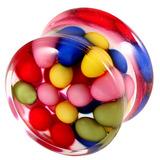 Acrylic Multicoloured Beads Plug 14