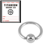 Sterile Titanium BCR with Titanium Ball 1.2mm x 8mm / Mirror Polish