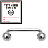 Sterile Titanium Surface Barbell 1.6mm x 20mm