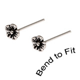 Silver Studs - Silver Flower Nose Studs Small Flower Nose Studs (3.2mm top). 2 Studs (1 pair)