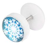 Acrylic Logo Fake Plug - Christmas Xmas Christmas Snowflake