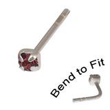 Crystal Nose Stud (Bend to fit) (ST11 ST12 ST13) 2.5mm Gem, Purple, Single Bend-to-Fit Stud (ST13)
