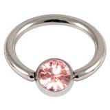 Steel Jewelled BCR 1.0mm Light Pink / 6