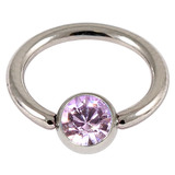 Steel Jewelled BCR 1.6mm Lilac / 12