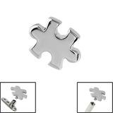 Steel Jigsaw for Internal Thread shafts in 1.6mm (1.2mm). Also fits Dermal Anchor Jigsaw Piece