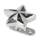 Titanium Dermal Anchor with Steel Nautical Star 2.5mm, Steel Nautical Star