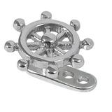 Titanium Dermal Anchor with Steel Nautical Ships Wheel 2.5mm, Steel Nautical Ships Wheel