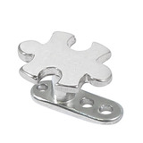 Titanium Dermal Anchor with Steel Jigsaw Top 2.5mm, Steel Jigsaw Piece