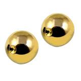 Titanium Clip in Ball (for BCR) 4 / Gold / 2 balls (a pair)