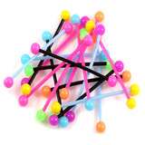 Bioflex Industrial Scaffold Barbells - Neon Balls 34 / Random Pack of 10 / 5