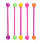 Bioflex Industrial Scaffold Barbells - Neon Balls 34 / Pack of 6 pink shafts with neon balls (6 colours) / 5