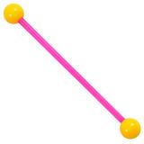 Bioflex Industrial Scaffold Barbells - Neon Balls 36 / Pink shaft with Yellow Neon Balls / 5