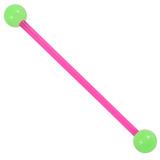 Bioflex Industrial Scaffold Barbells - Neon Balls 36 / Pink shaft with Green Neon Balls / 5