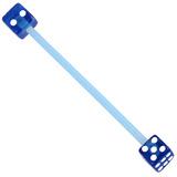 Bioflex Industrial Scaffold Barbells - Acrylic Dice 34 / Blue shaft with Blue Acrylic Dice / 5
