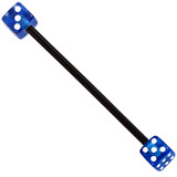 Bioflex Industrial Scaffold Barbells - Acrylic Dice 34 / Black shaft with Blue Acrylic Dice / 5