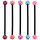 Bioflex Industrial Scaffold Barbells - Multi-Heart 34 / Pack of 5 black shafts with Multi Heart balls (5 colours) / 5