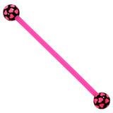 Bioflex Industrial Scaffold Barbells - Multi-Heart 34 / Pink shaft with Black Multi Heart Balls / 5