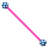 Bioflex Industrial Scaffold Barbells - Multi-Heart 34 / Pink shaft with Blue Multi Heart Balls / 5