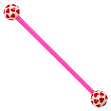 Bioflex Industrial Scaffold Barbells - Multi-Heart 34 / Pink shaft with White Multi Heart Balls / 5