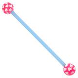 Bioflex Industrial Scaffold Barbells - Multi-Heart 34 / Blue shaft with Pink Multi Heart Balls / 5