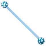 Bioflex Industrial Scaffold Barbells - Multi-Heart 34 / Blue shaft with Blue Multi Heart Balls / 5