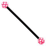 Bioflex Industrial Scaffold Barbells - Multi-Heart 34 / Black shaft with Pink Multi Heart Balls / 5