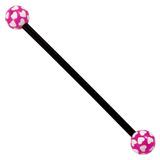 Bioflex Industrial Scaffold Barbells - Multi-Heart 34 / Black shaft with Purple Multi Heart Balls / 5