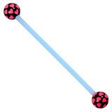 Bioflex Industrial Scaffold Barbells - Multi-Heart 36 / Blue shaft with Black Multi Heart Balls / 5
