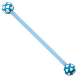 Bioflex Industrial Scaffold Barbells - Multi-Heart 36 / Blue shaft with Blue Multi Heart Balls / 5