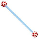 Bioflex Industrial Scaffold Barbells - Multi-Heart 36 / Blue shaft with White Multi Heart Balls / 5