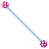 Bioflex Industrial Scaffold Barbells - Multi-Heart 36 / Blue shaft with Purple Multi Heart Balls / 5