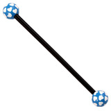 Bioflex Industrial Scaffold Barbells - Multi-Heart 36 / Black shaft with Blue Multi Heart Balls / 5